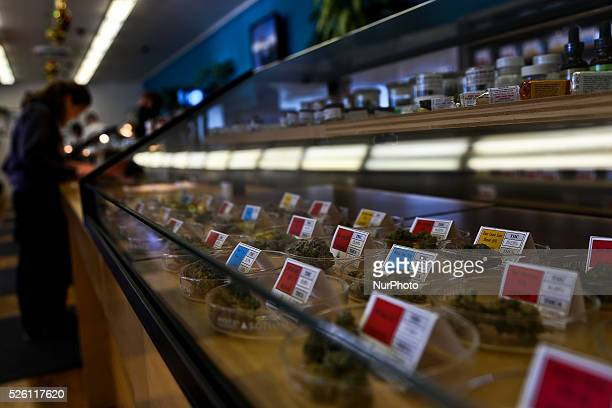 A women purchases her medicine at a dispensary in Oakland California