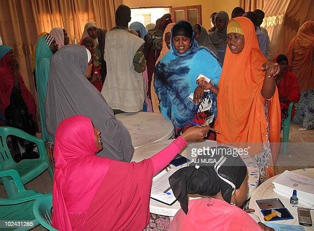 Women register to vote on June 26 2010 in Hargeisa the capital of the selfproclaimed state of Somaliland which closed its borders for the...