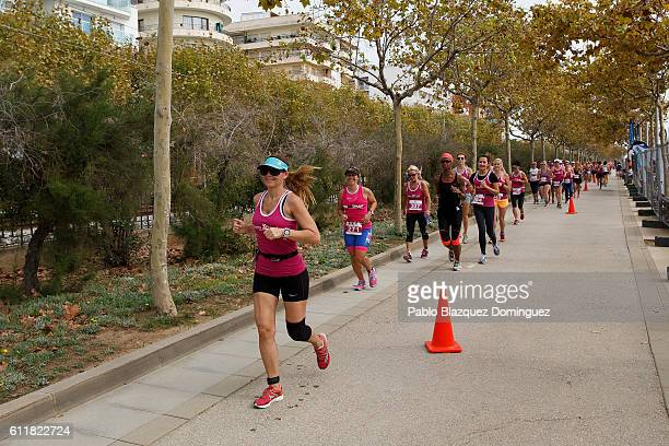 Women run during the Irongirl race a day before Ironman Barcelona on October 1 2016 in Calella near Barcelona Spain