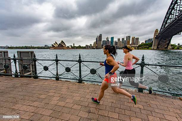 Women Running by Sydney Harbour