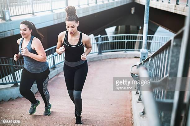 Women Running in Downtown Austin