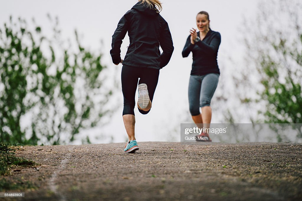 Women running together : Stock Photo