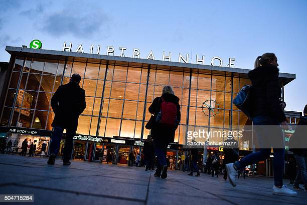 Women seen in silhouette go near Hauptbahnhof main railway station where on New Year's Eve gangs of what victims described as North African men...