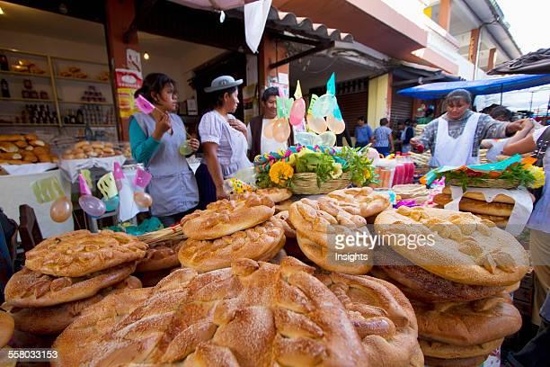 Women Selling Tortas De Comadres At The Jueves De Comadres Market During Carnaval Chapaco Tarija Bolivia
