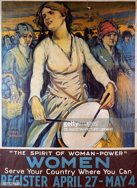 Women serve your country poster by Paul Honore' to recruitment American women into auxiliary services during the First World War United States of...