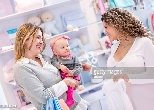 Women shopping at a baby shop