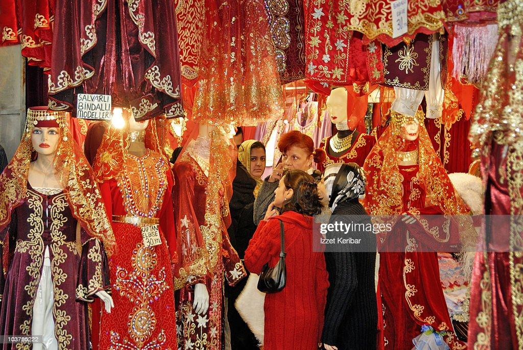 Women Shopping At Izmir Bazaar High Res Stock Photo Getty Images