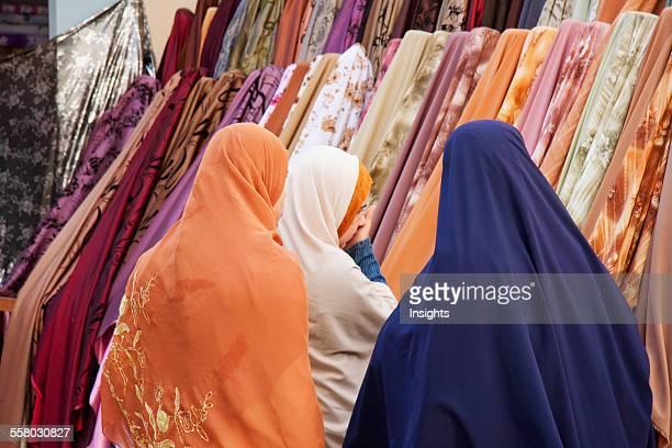 Women Shopping For Fabrics In The Bazaar Rosetta Beheira Egypt