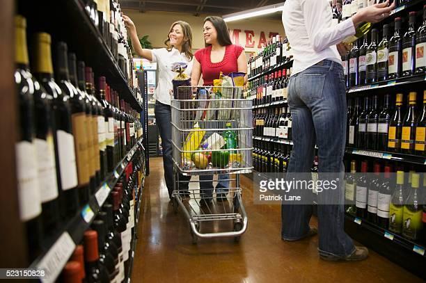 Women Shopping for Wine