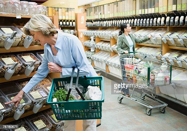 Women Shopping in Health Food Store