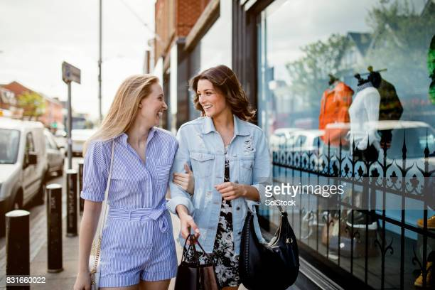 women shopping in style - high society stock photos and pictures