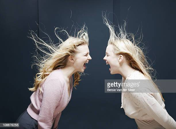Women shouting at eachother.