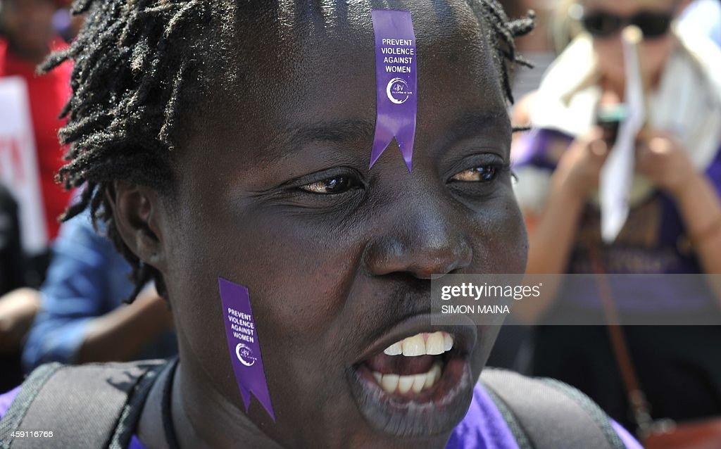 KENYA-WOMEN-MINISKIRT-DEMO : News Photo