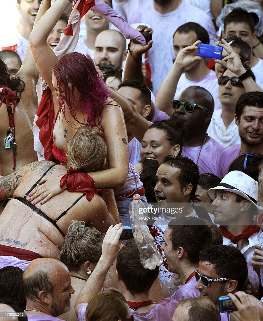 Breast Touching Festival Photos