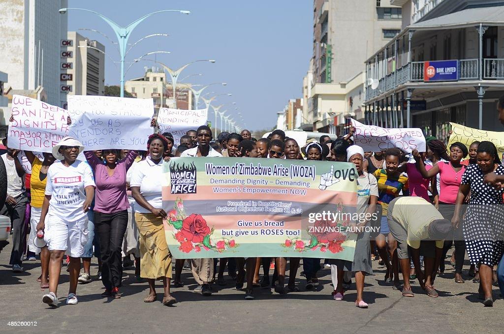 ZIMBABWE-POLITICS-WOMEN-RIGHTS : News Photo