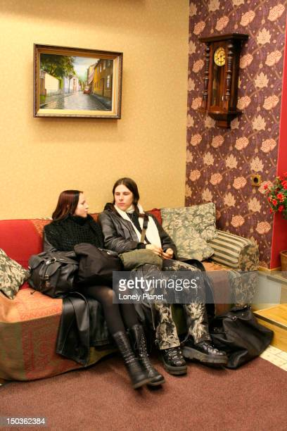 Women sitting  in Old House Guesthouse.