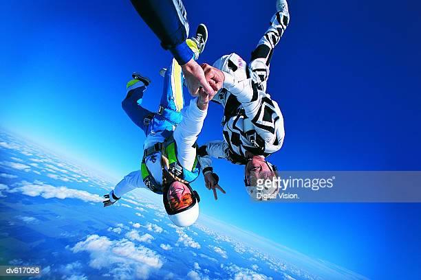 Women Skydiving