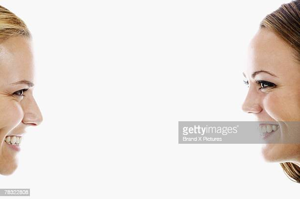 women smiling - part of stock pictures, royalty-free photos & images