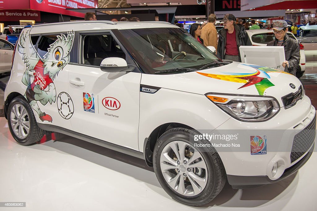 Women Soccer World Cub Decorated Kia Which Is An Official Partner As Seen  In The Canadian