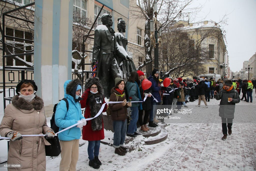 Alexey Navalny Supporters Protest In Moscow : News Photo