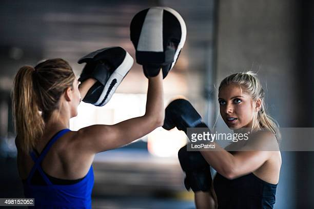Women sport team boxing outdoor