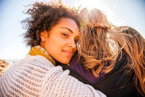 Women standing together outdoors - gettyimageskorea