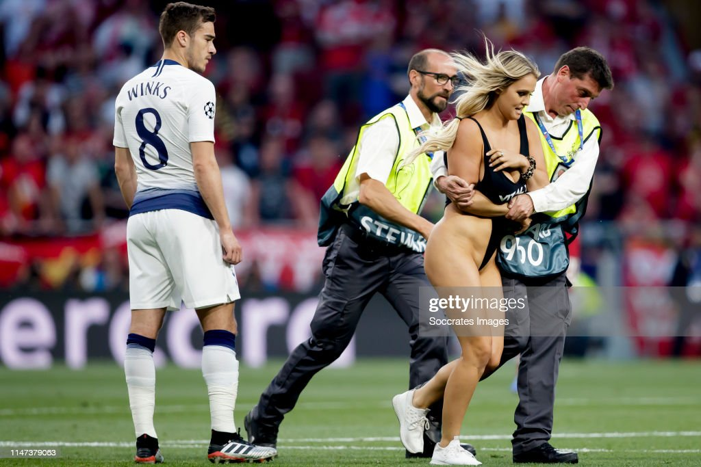 Swimsuit-Clad Blonde Who Stole the Show at UCL Final