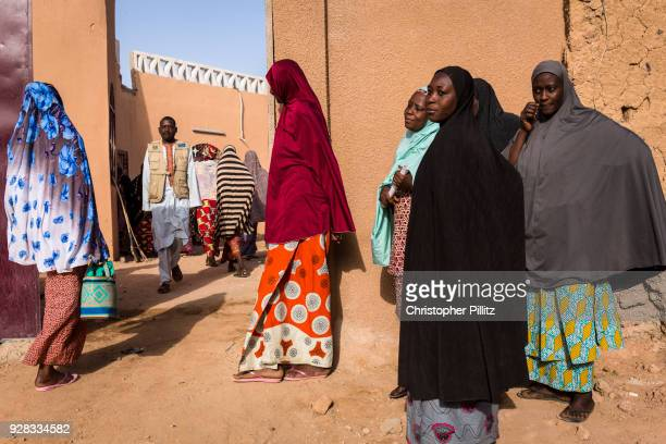 Women at the street cleaners association in Agadez city which has recently been created and funded by the European Union to generate income,...