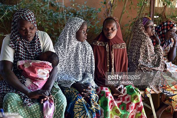Women suffering from obstetric fistula go about with their daily life in the health centre of the Non Governmental Organisation DIMOL in Niamey on...