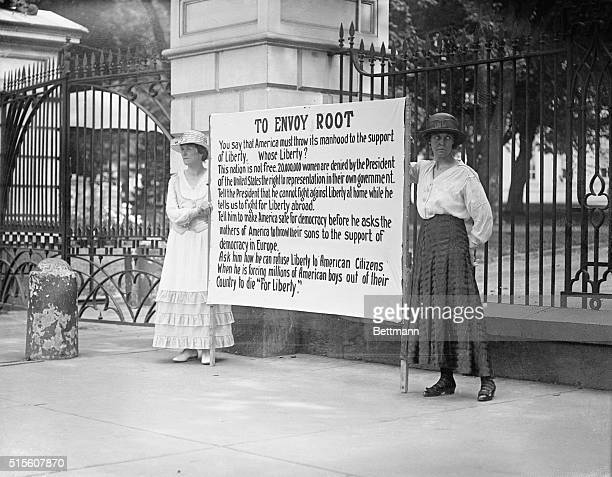 Women Suffragettes Picketing