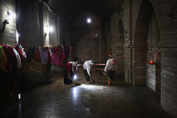 Yazidi People Hold Religious Ritual At Holy Shrine