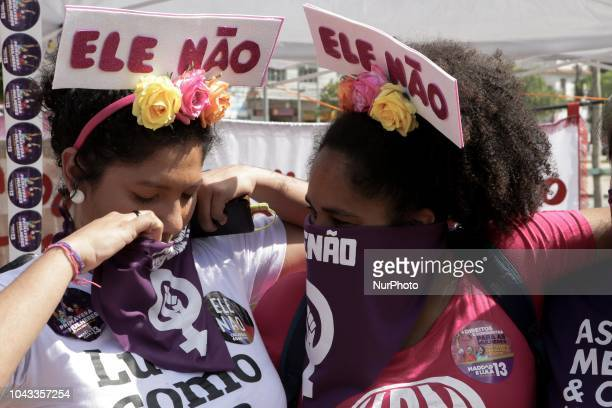 women take to the streets this Saturday afternoon in a rally against the presidential candidate Jair Bolsonaro The Women against Bolsonaro movement...