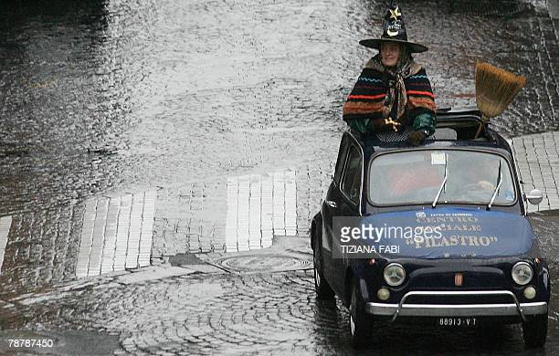 A women takes part to the annual Befana parade in Viterbo 05 January 2008 on Epiphany Eve In Italy Epiphany is celebrated with the tradition of La...