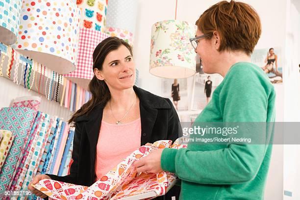 Women Talking In A Shop, Munich, Bavaria, Germany, Europe