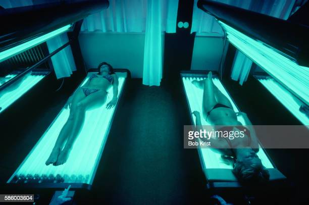 Women Tanning at a Salon