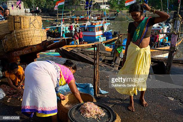Women trade in a wide variety of fish at Sassoon Docks in Colba South Mumbai The Sassoon Docks is one of the oldest docks in Mumbai It is the largest...