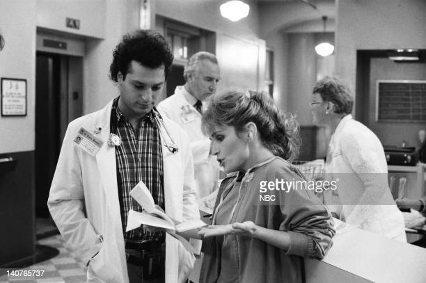 """Women Unchained"""" Episode 20 -- Pictured: Howie Mandel as Dr. Wayne Fiscus, Sagan Lewis as Dr. Jacqueline Wade -- Photo by: Ron Batzdorff/NBCU Photo..."""