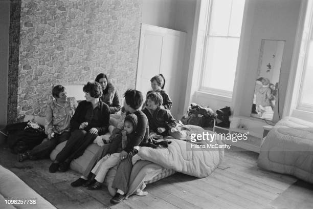 Women victims of domestic abuse at the Palm Court Hotel, a shelter set up by the Chiswick Women's Aid and Erin Pizzey, in Richmond, London, UK, 10th...