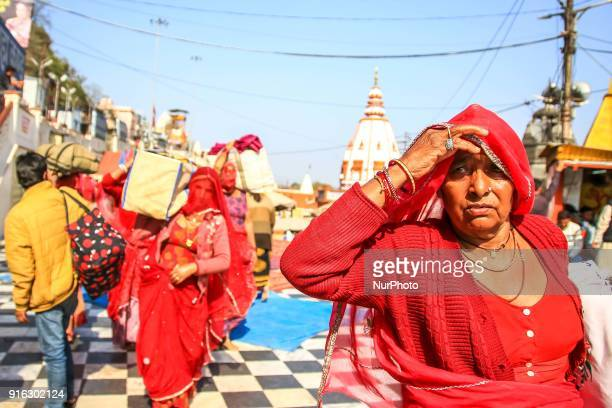Women visit at Har ki Pauri in Haridwar Uttrakhand India on 8th Feb 2018According to hindu culture Har ki Pauri one of the famous ghat and Ganga is...