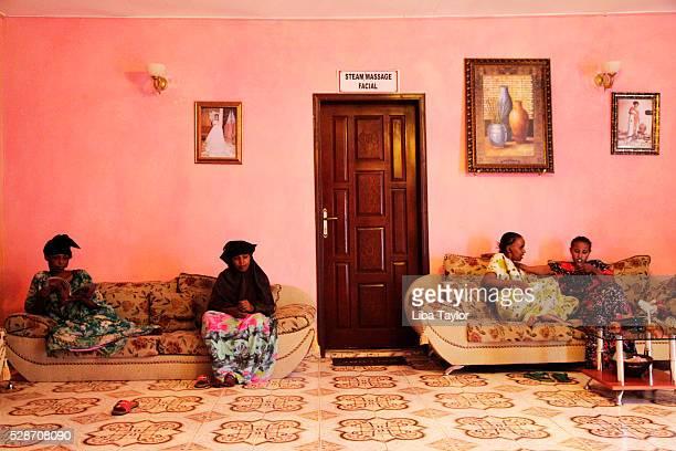 Women waiting in beauty salon in Hargeysa