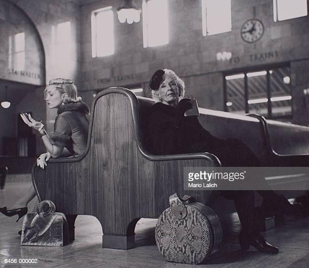 Women Waiting in Train Station