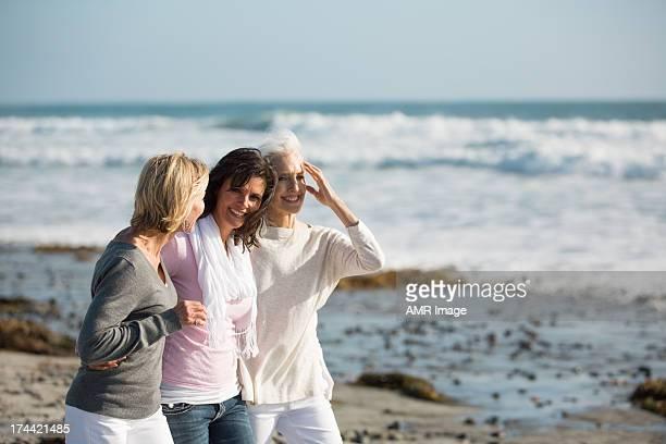 Mulher Andar na praia