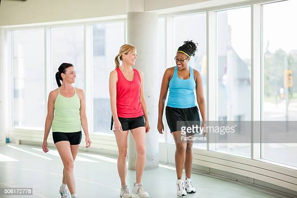 Women Walking Together at the Gym