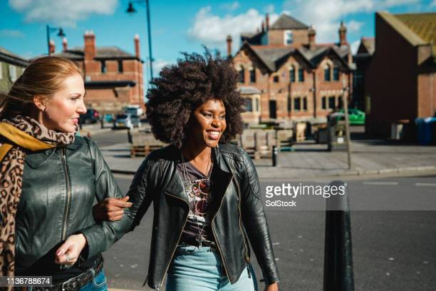 women walking together - travelstock44 stock pictures, royalty-free photos & images