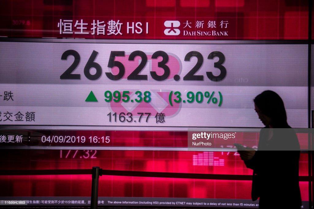 Hong Kong Stock Market : News Photo