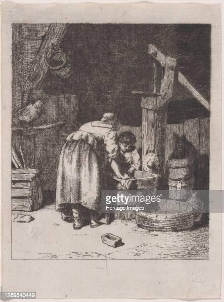 Women Washing, ca. 1845-50. Artist Charles Emile Jacque.