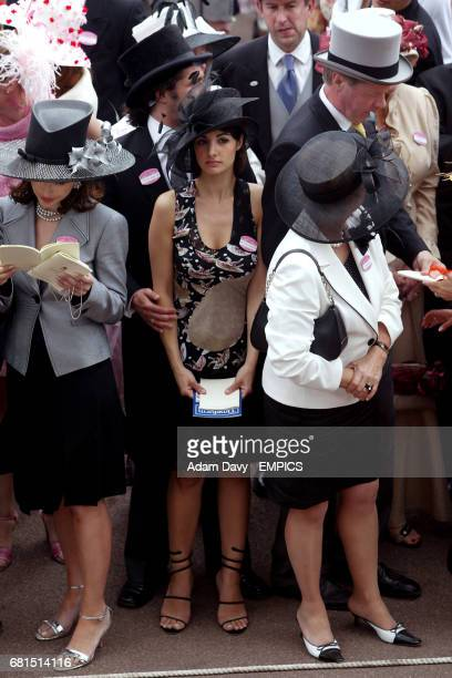 35c234667d7480 Women wear designer hats at Ladies Day News Photo | Getty Images