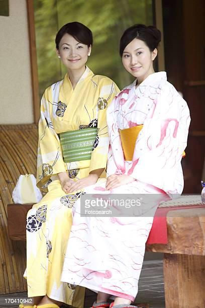 Women wearing a yukata
