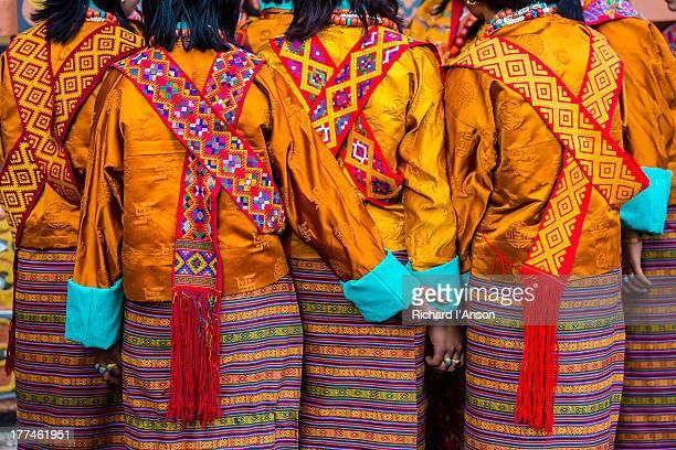 women wearing kera - paro stock pictures, royalty-free photos & images