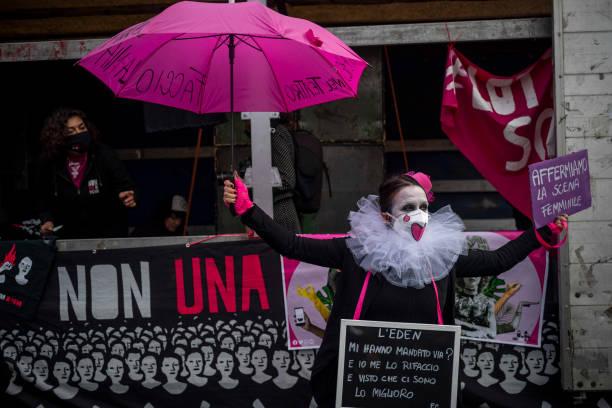 ITA: Protest Group 'Non Una Di Meno' Stages Flashmob For International Women's Day